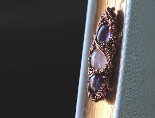 Rose Meadow Necklace, Amethyst and Quartz Necklace - Kica Bijoux #quartznecklace