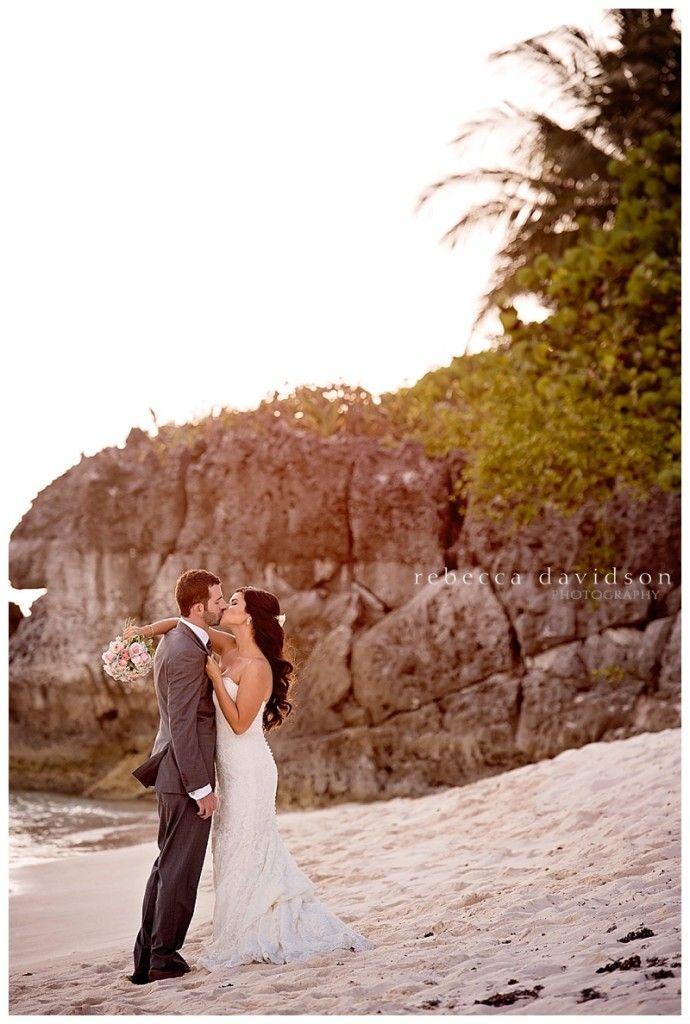 sunset beach wedding for a cayman islands wedding Sunset