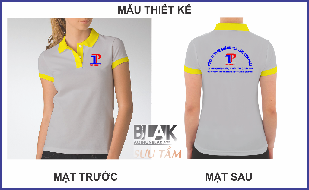 Mẫu áo thun đồng phục công ty Quảng Cáo Tâm Tiến Phát - Hình 2