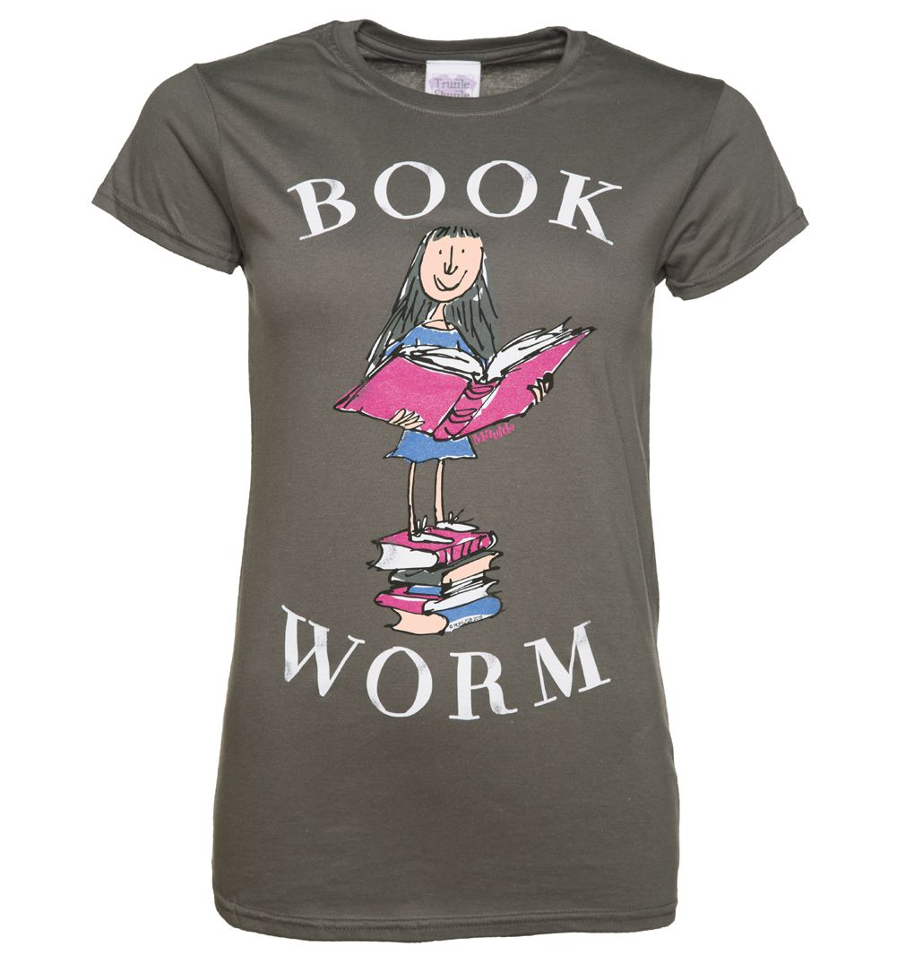 Truffleshuffle Womens Roald Dahl Matilda Book Worm T Shirt If Books Are Your Bag This Is The Tee For You Featuring Quentin B T Shirt Book Shirts Book Clothes