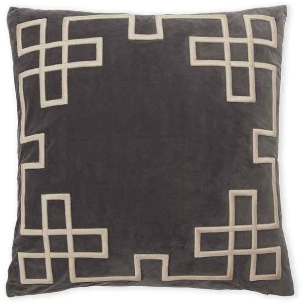 Rodeo Home Grey Geometric Border Pillow 20 ❤ Liked On Polyvore Rhpinterestse: Rodeo Home Decor At Home Improvement Advice