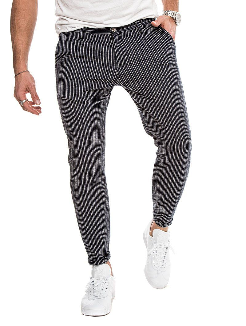 6d95c4e06 MEN'S CLOTHING | ANUBIS COTTON TROUSERS IN STRIPED BLUE | NOHOW SUMMER  COLLECTION | NOHOW – Nohow Style