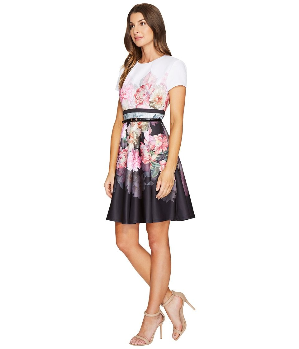 2d6b517d3261c Ted Baker Valerey Painted Posie Halter Skater Dress Women s Dress Baby Pink