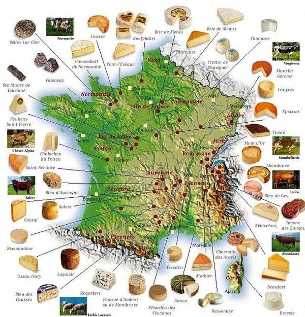 FRANCE: FROMAGES
