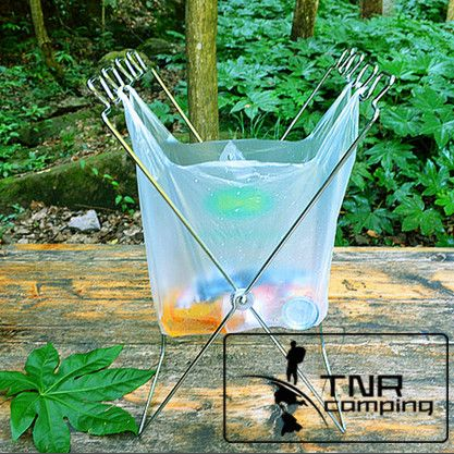 Collapsible Trash Can Cans Folding Bag Holder
