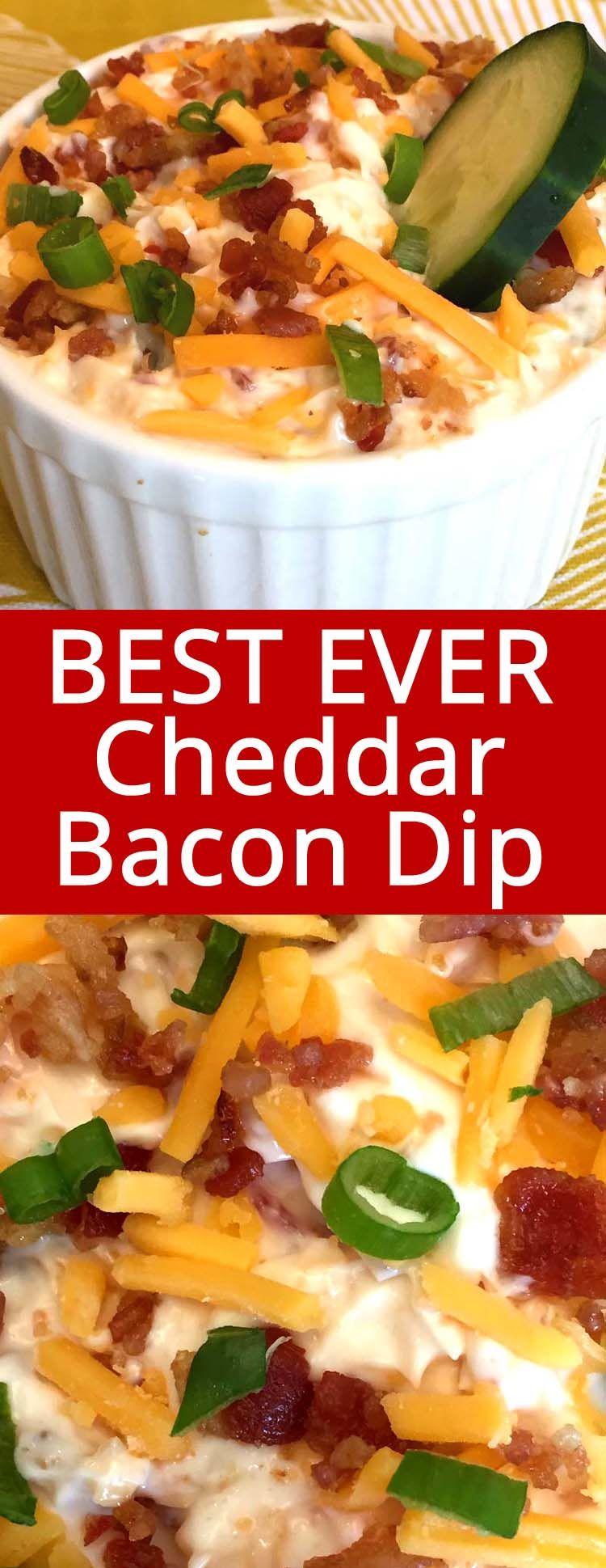 Keto Bacon Cheddar Dip Recipe