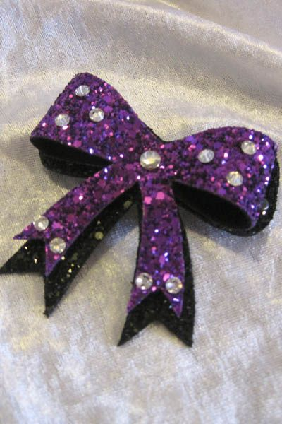 Bow Hairclip in Purple