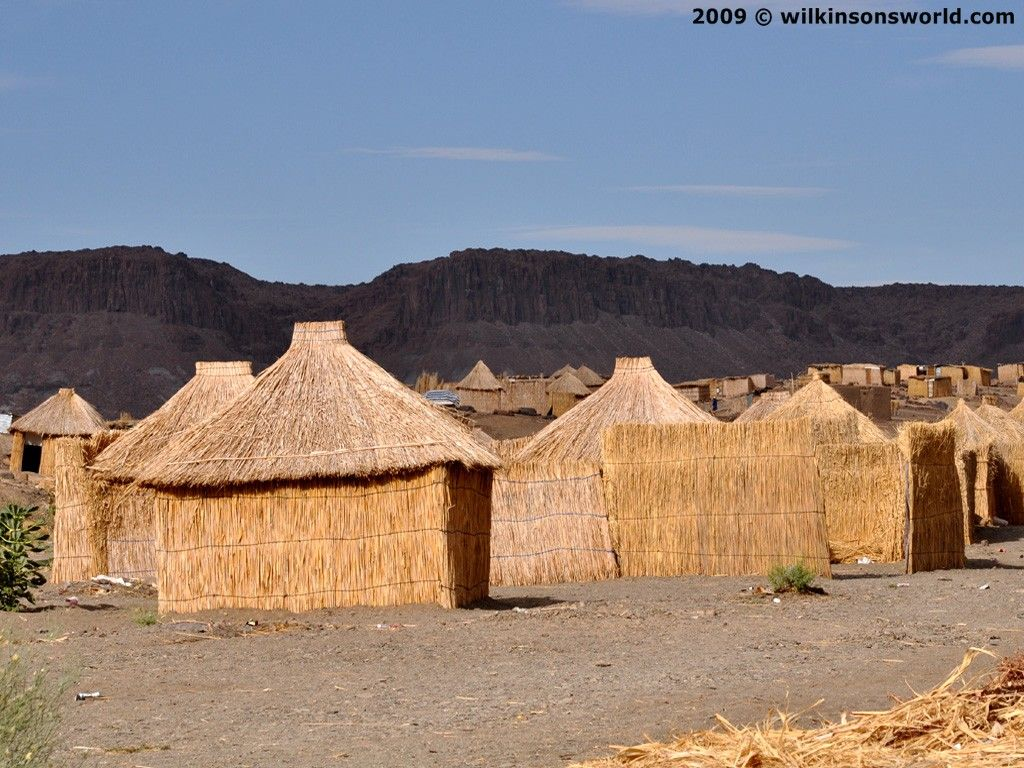The Houses Made Of Reeds Dubbed The Straw Village At The Village