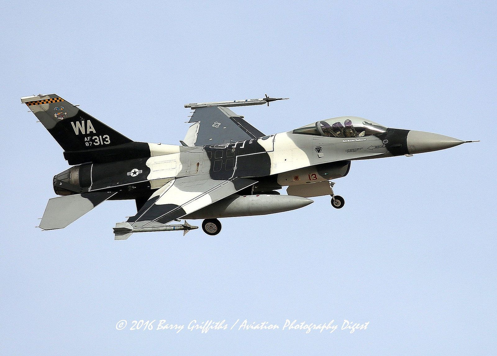 Air Force Aggressor F 16 painted as Russia's Su 57 to train
