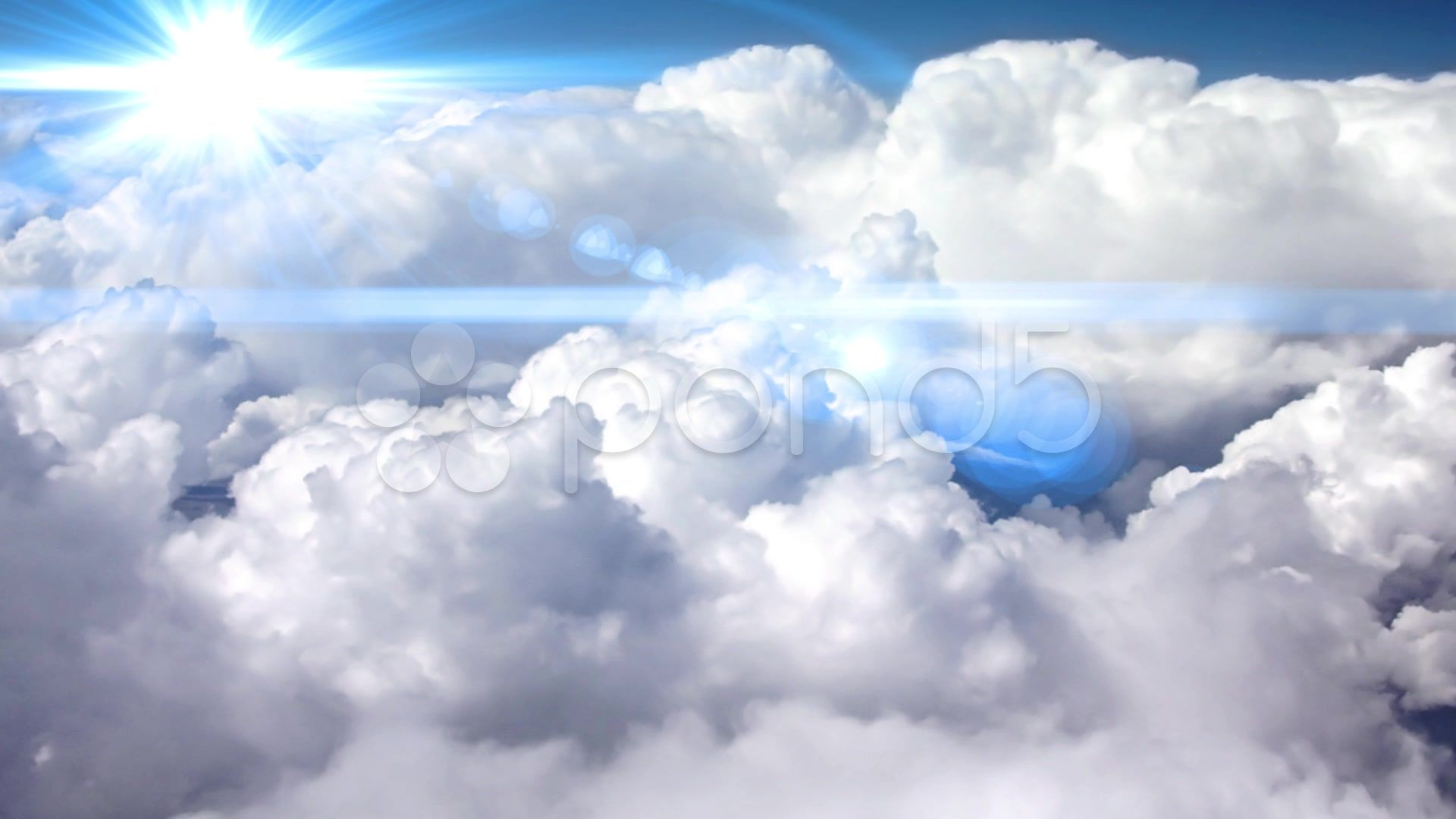 Aerial view of clouds - Stock Footage   by agusacosta