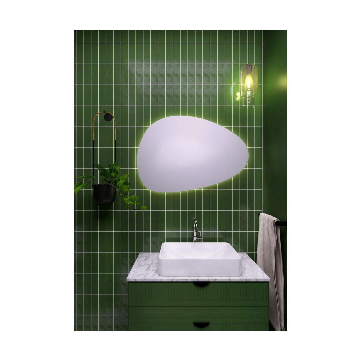 Lustro Lazienkowe Z Oswietleniem Wbudowanym Nova 80 X 55 Dubiel Vitrum Lustra Lazienkowe I Akcesoria W Atrakcyjnej Cen Vanity Bathroom Vanity Single Vanity