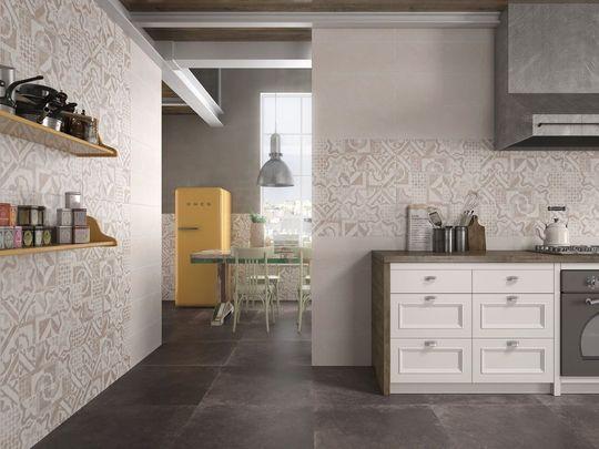 Carrelage à double effet pour la cuisine : murs effet carreaux de ...