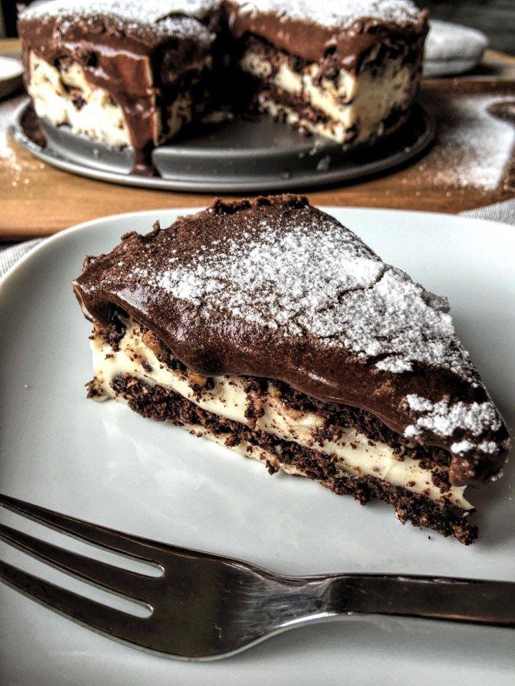low carb eclair kuchen rezept mit schoko cookies und vanillepudding low carb pinterest. Black Bedroom Furniture Sets. Home Design Ideas