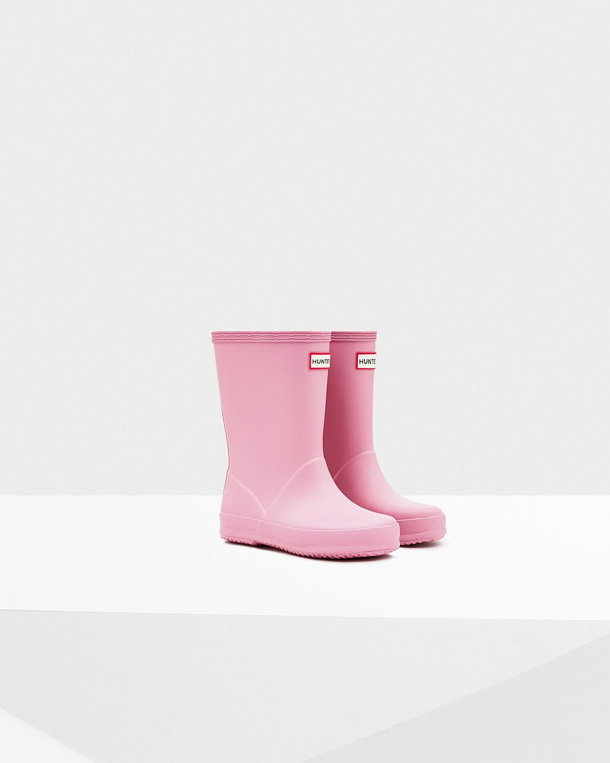 Original Kids' First Classic Hunter Rain Boots Fondant Pink - Size 8 Toddler