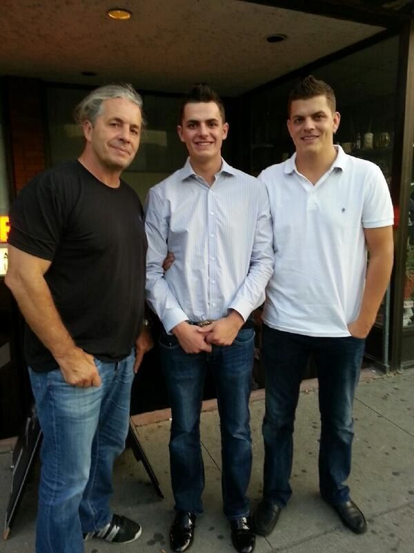 Bret Hart With His Sons Dallas Colton Pinterest More And Hitman Ideas
