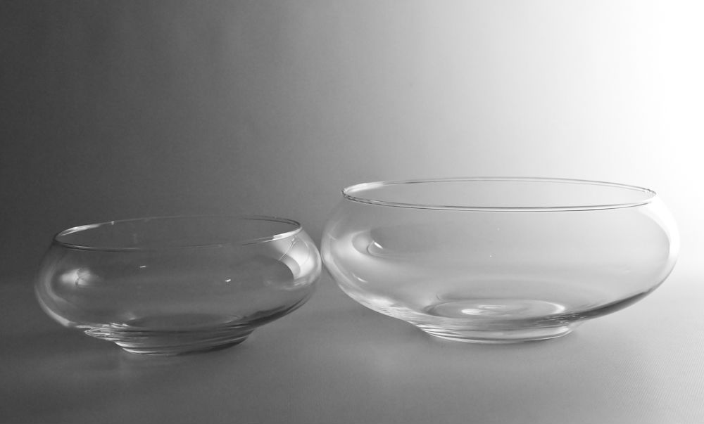 8 Or 10 Wide Clear Glass Lily Bowl Vase Wholesale Flowers And