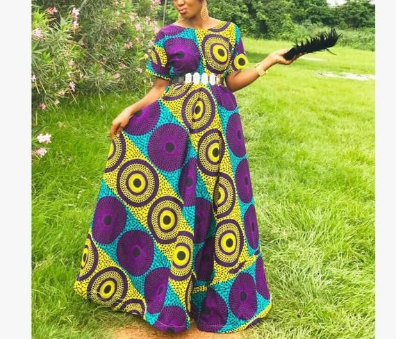 Maxi Dress/Ankara Maxi dress/African dress/African clothing/African print dress/Dress/Formal wear/long dress/African clothing for women #afrikanischeskleid