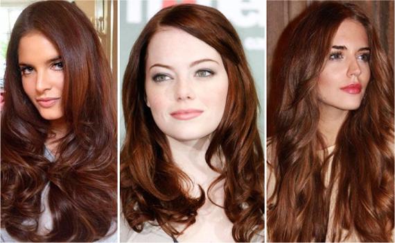 фото каштаново рыжий цвет волос