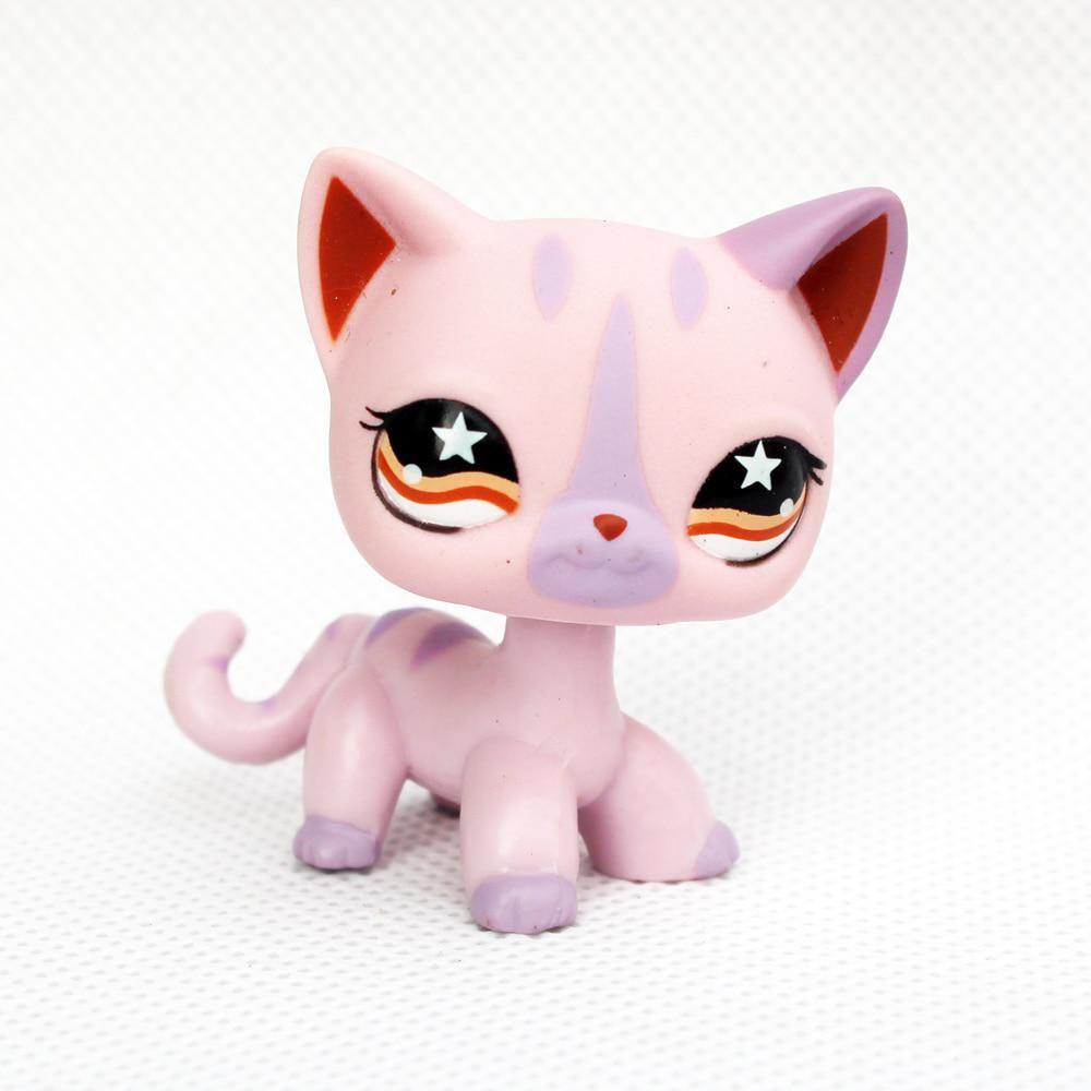 Rare Pet Shop Lps Toys 933 Littlest Pink Purple Stripe Short Hair Us 3 22 Lps Littlest Pet Shop Lps Toys Lps Pets