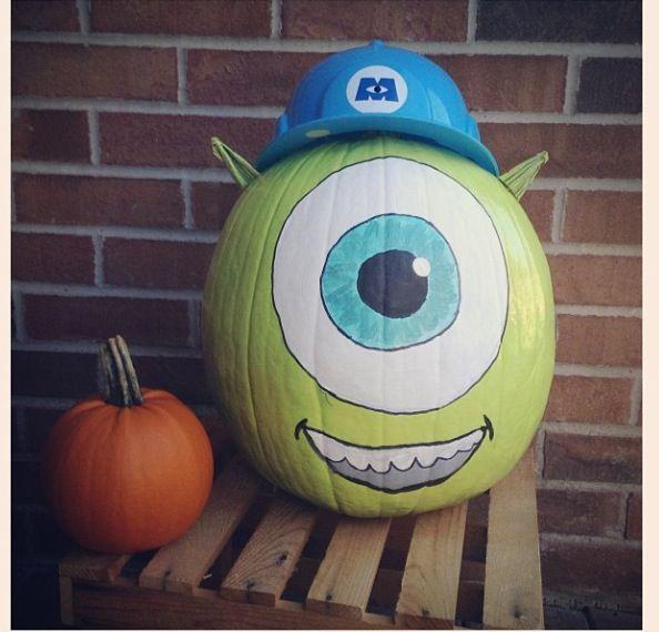 Monsters inc pumpkin   HOLIDAY STUFF   Pinterest