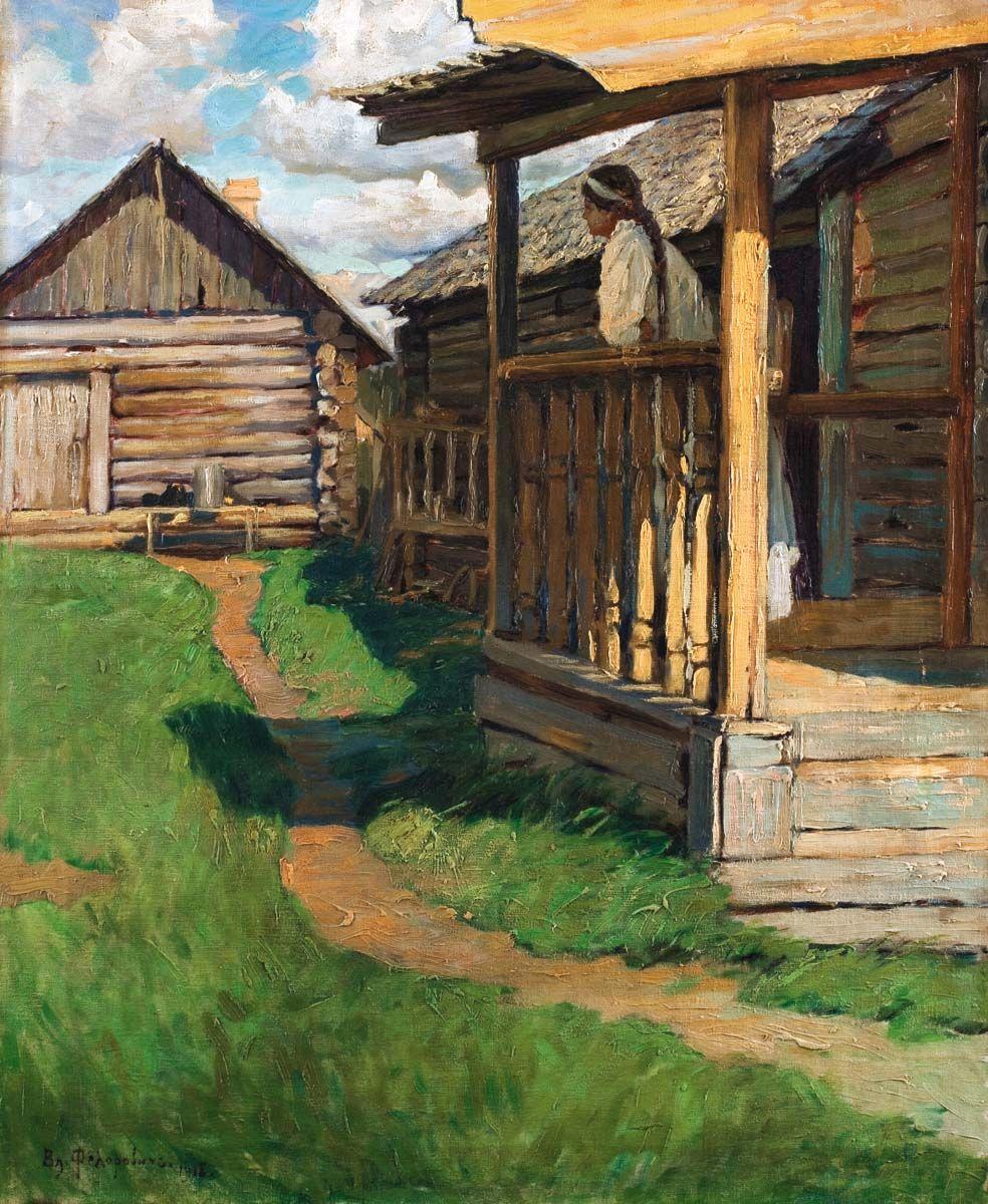 деревенский дом с крыльцом картинки шторах фотошторах