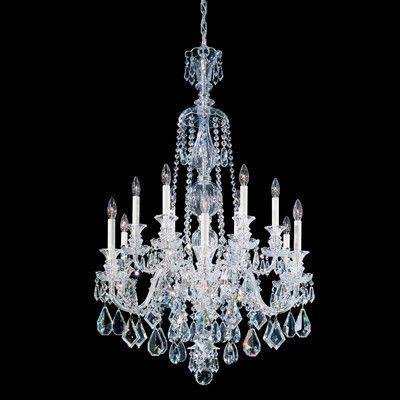 Schonbek Hamilton 12 Light Crystal Chandelier Color / Crystal Color: Jet Black / Black