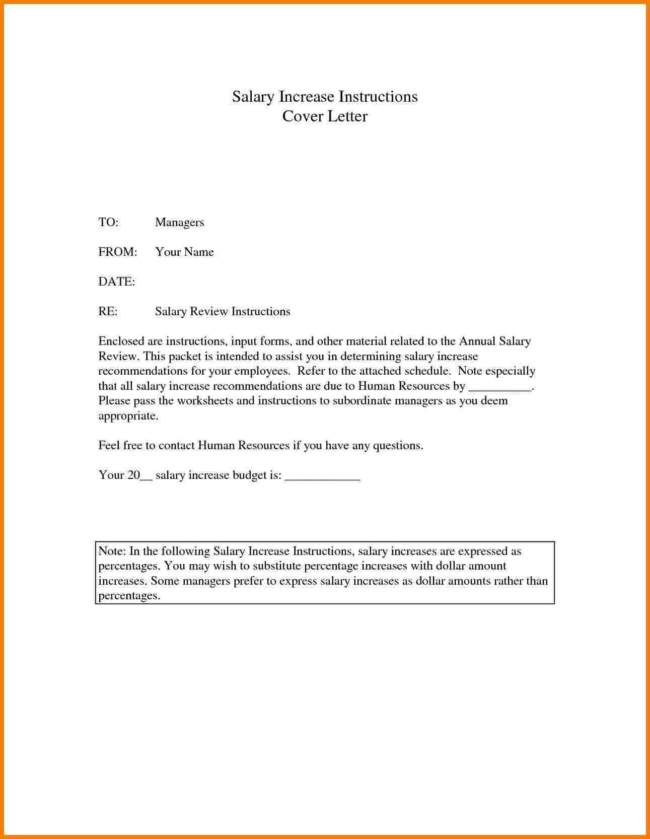 New Increase Salary Letter Format Cover Letter Template Free