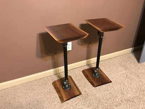 Industrial Pipe Speaker Stands For Bookshelf Speakers Includes Two These Are A