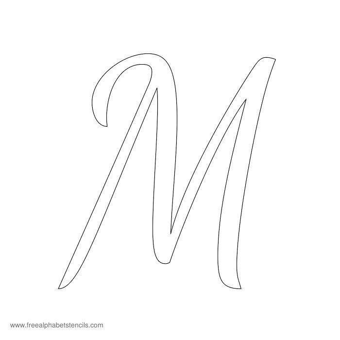 Cursive Alphabet Stencil M | 16 party | Pinterest ...