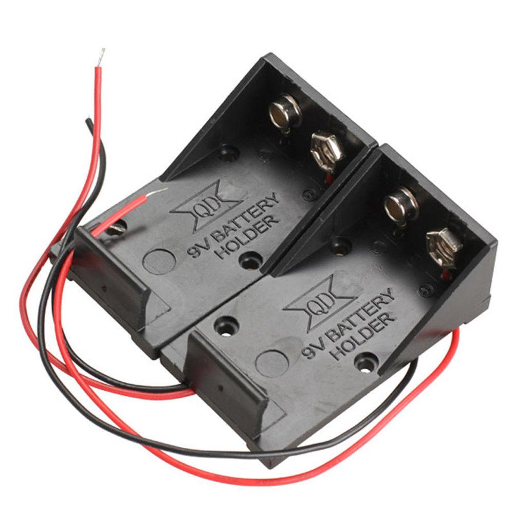 099 2pcs Lot Single Slot Dc 9v Volt Battery Clip Holder Box Case Wiring With