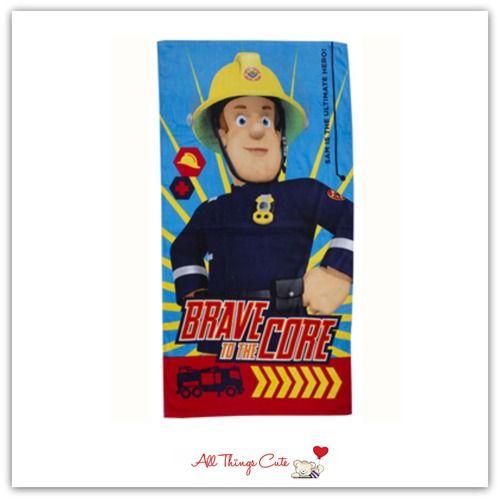 Fireman Sam 'Brave' Towel #firemansam #fireman #towel #superhero