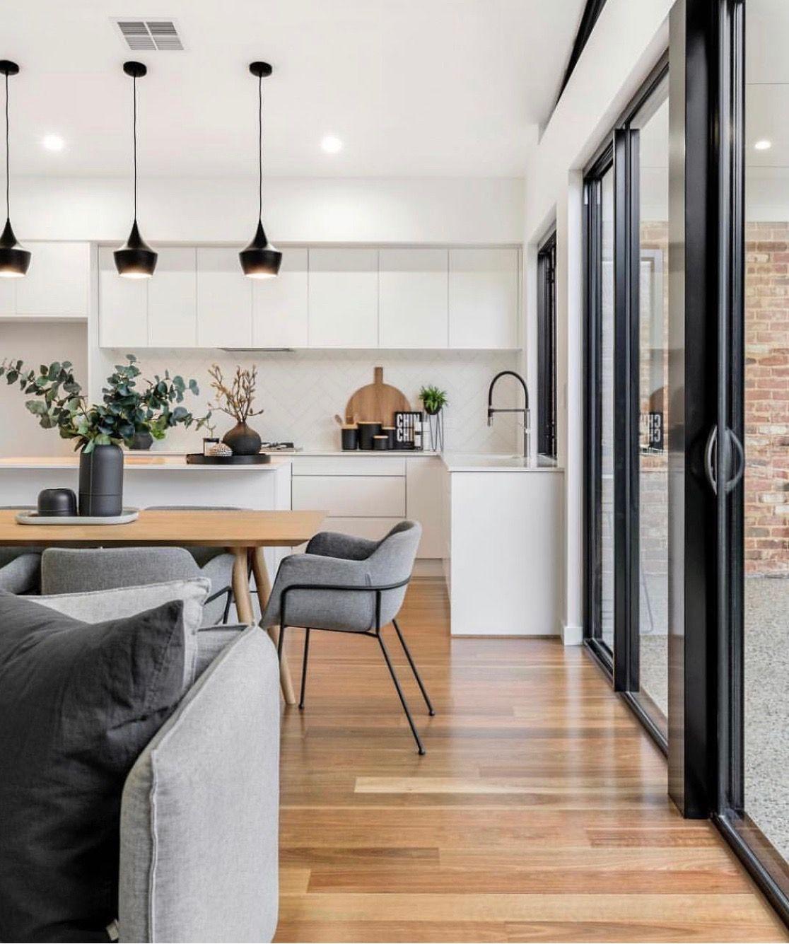 Color Scheme Lighting Windows In 2020 House Interior Modern Kitchen Design Interior