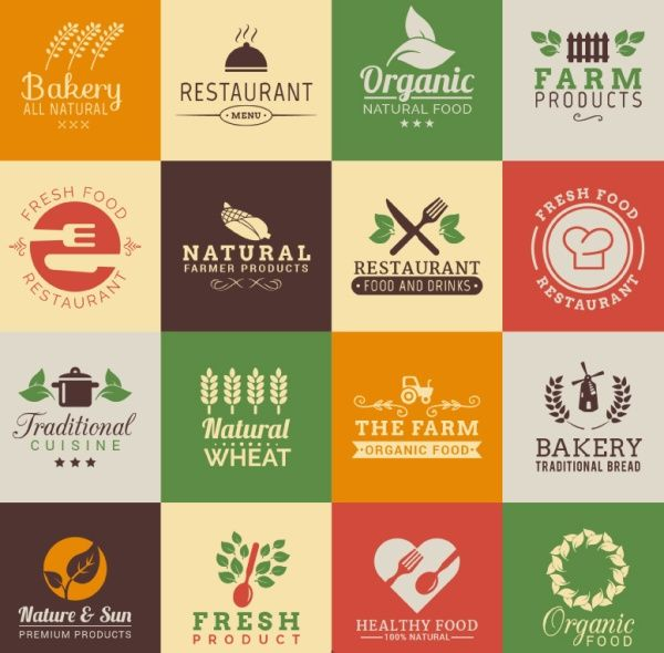 Restaurant Logo Design Vector Material 4 Graphic Sticker