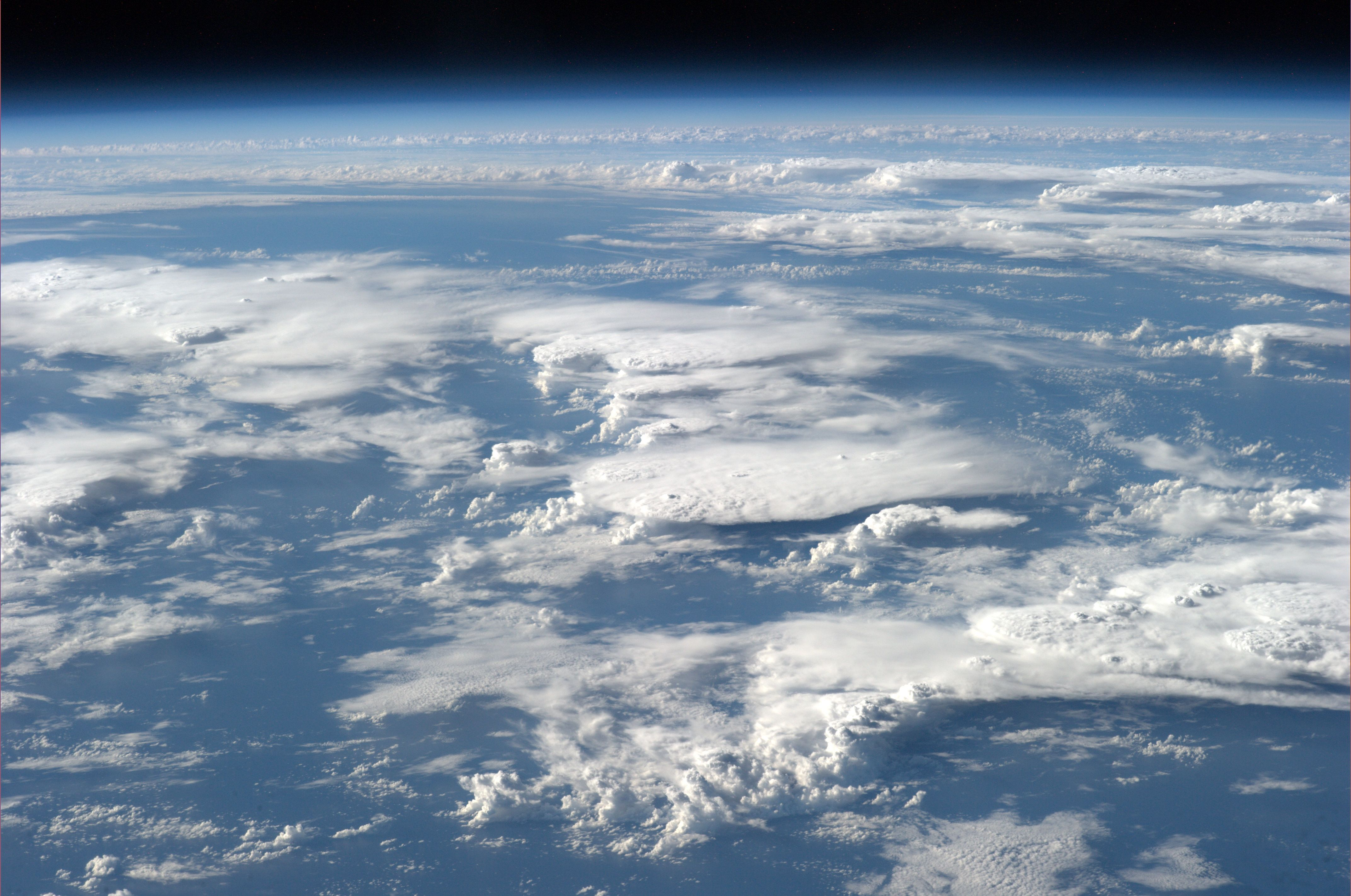 Clouds as seen from above. Credits: ESA/NASA