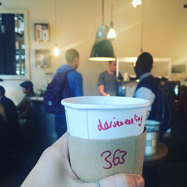 363/365: It's Tea o'clock time at one of my fav little cafes in central London ❤️ Darjerling for me today... What's your o'clock drink today? : ) -A 365 days project - #fromlondonto...