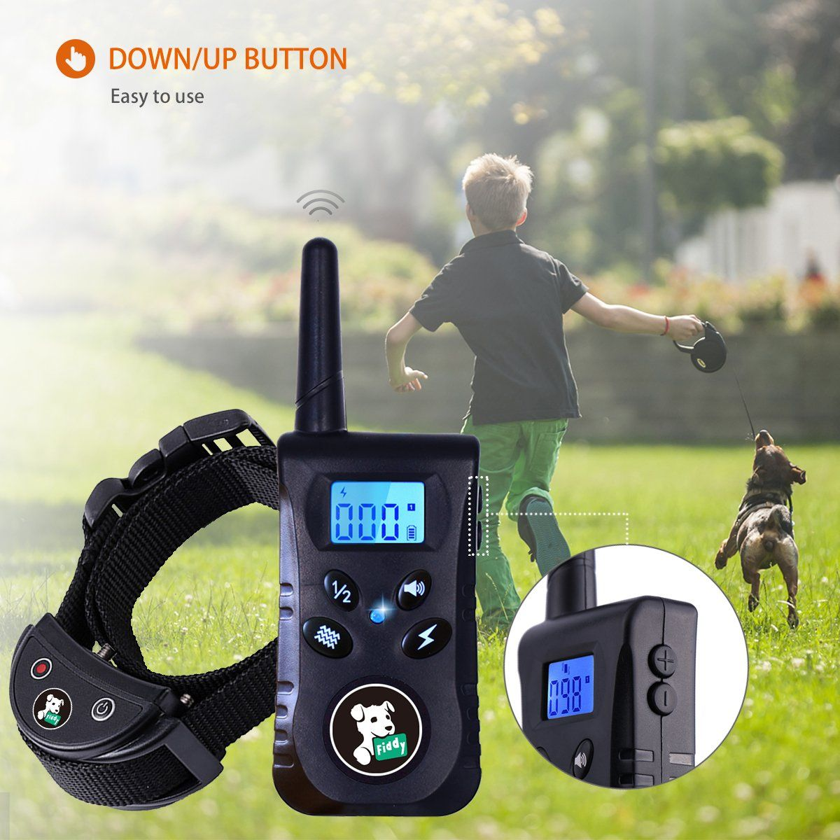 Fiddy Dog Training Collar With Remote Dog Shock Collar For Puppy