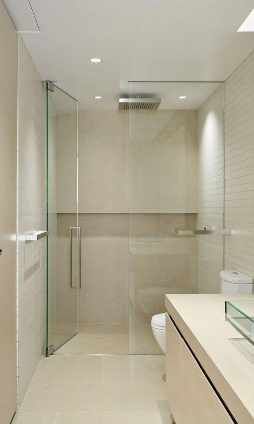 Bespoke Frameless Glass Shower Enclosure Banheiros Modernos