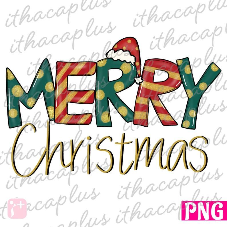 Merry Christmas Png Sublimation Christmas Santa Hat Digital Etsy In 2021 Christmas Lettering Christmas Text Christmas Doodles