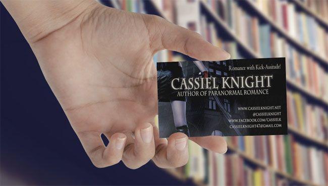 author business card cassiel knight - Author Business Cards
