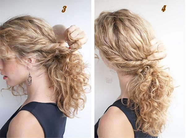 Exemple de coiffure cheveux long facile