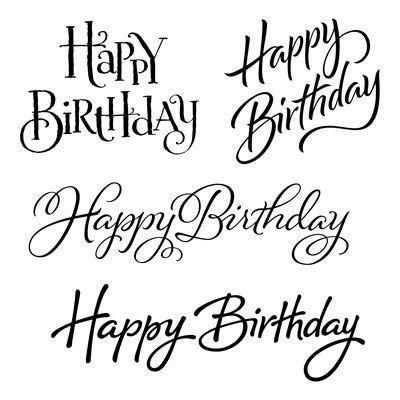 joyful birthday set of 4 recommended my acrylix™ b…   alles gute zum geburtstag kalligraphie
