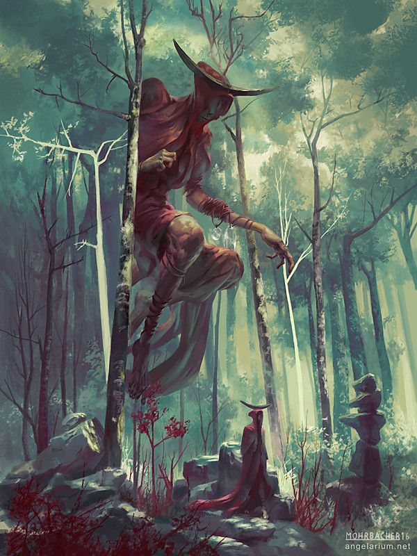 Artstation Bezaliel Angel Of Shadow Peter Mohrbacher Wendigo Tegninger Painting