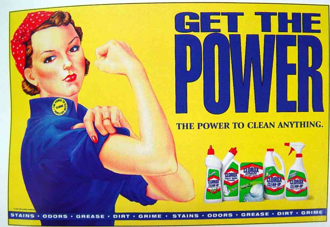 clorox s advertising women it s not old it s vintage james this ad is a way to tell women they have to clean the house a way to show women their place in the world a place that involves women undermined and
