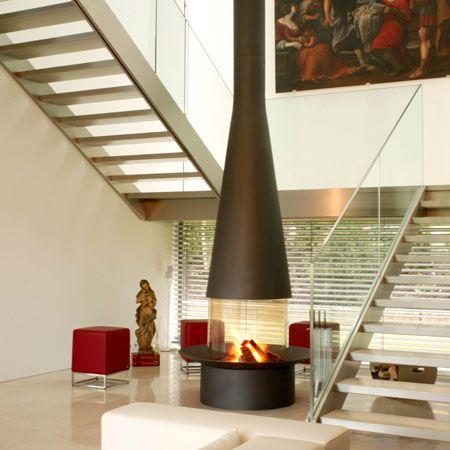 Elegantes chimeneas de diseño Fireplaces Pinterest Elegante