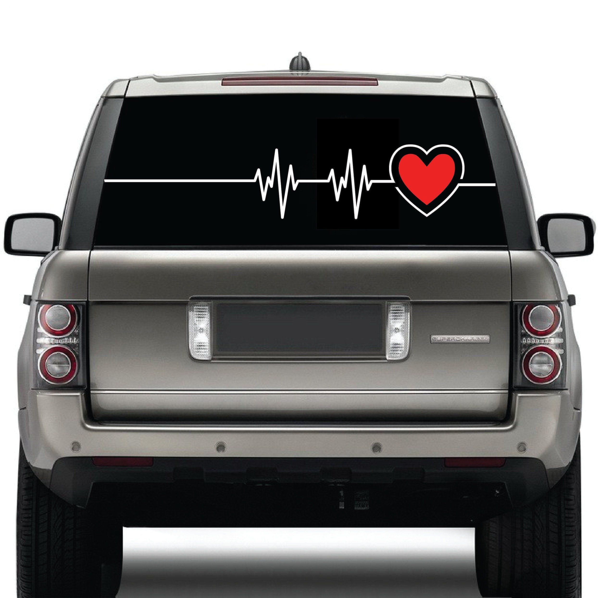 All Weather Waterproof Heartbeat Cardiogram Red Heart Love Etsy Bumper Stickers Vinyl Decal Stickers Vinyl Sticker