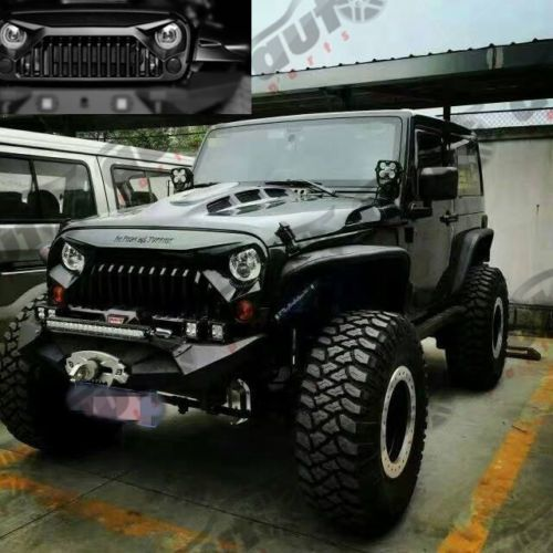 Angry Bird Upgrades Matte Black Front Grille Fit For Jeep Jk