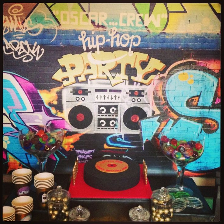 Hip hop theme party idea on pinterest hip hop party hip for 90 s party decoration ideas