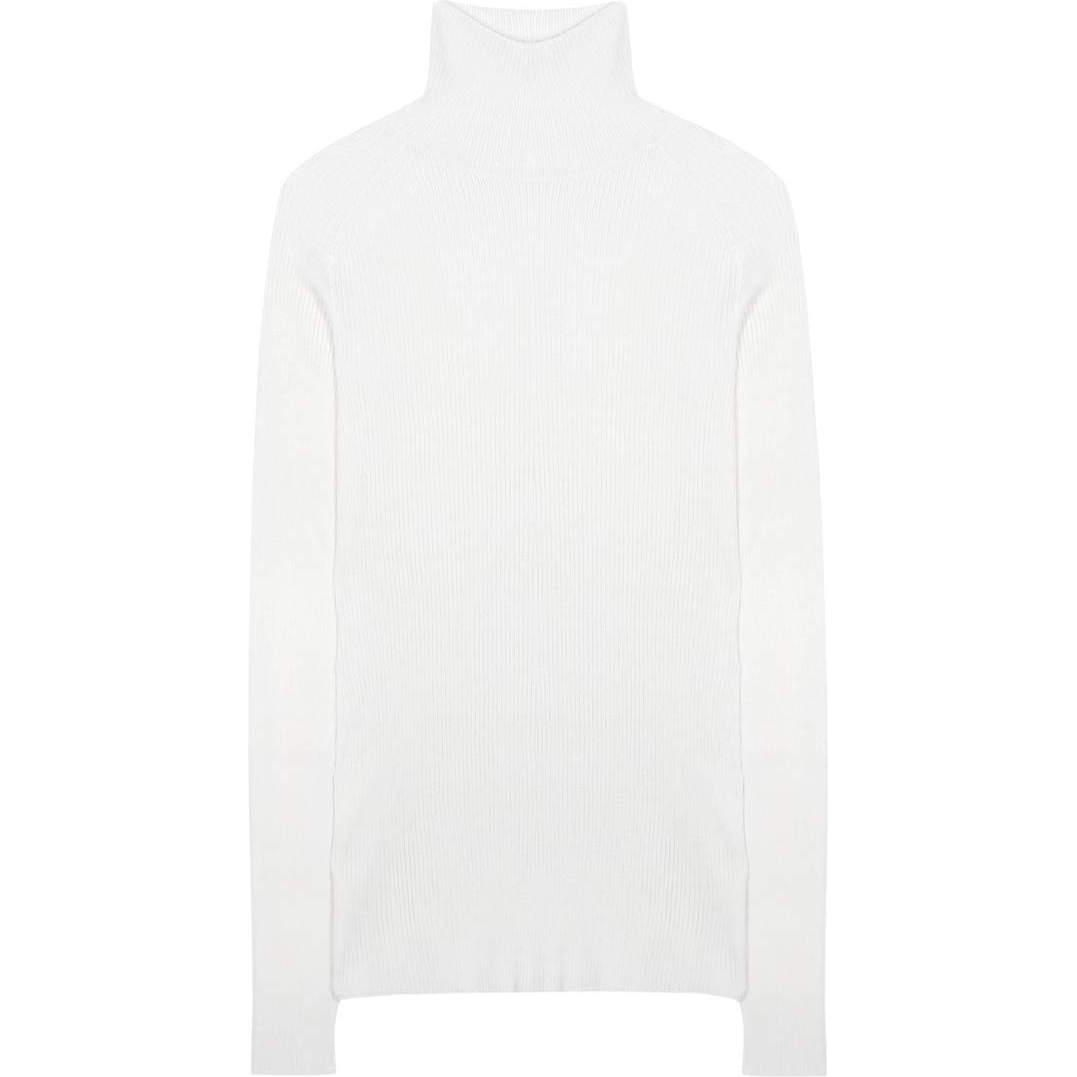 Victoria Beckham Silk and Cotton Turtleneck Sweater | Victoria ...