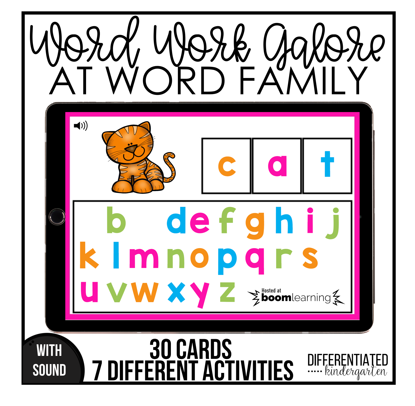 At Word Family Digital Boom Task Cards