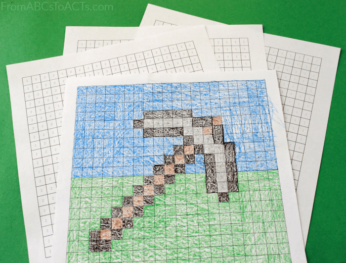 Minecraft Math Hidden Picture Color By Number Pages Minecraft Activities Minecraft Coloring Pages Hidden Pictures
